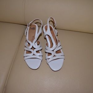 Sofft Women's White Wedges Sandals Sz 8M